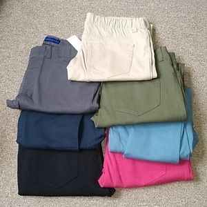 7 pair lot of colored jeggings